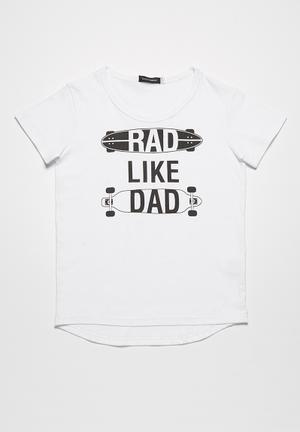 Basicthread Rad Like Dad Tee Tops White