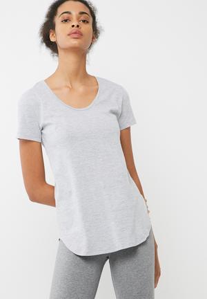 Dailyfriday Slouchy Gym Tee T-Shirts Grey & Black