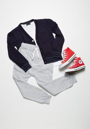 Tipped classic cardigan