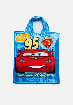 Character Fashion CARS Hooded Towel Accessories Red