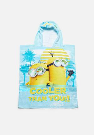 Character Fashion Despicable Me Hooded Towel Accessories Yellow