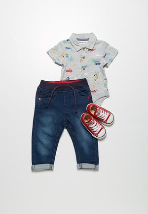 MINOTI Turn-up Jeans Dark Blue
