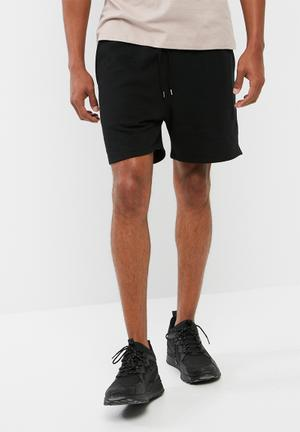 Basicthread Regular Fit Sweat Shorts Black