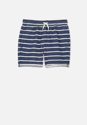 Cotton On Kids Henry Shorts Blue & White