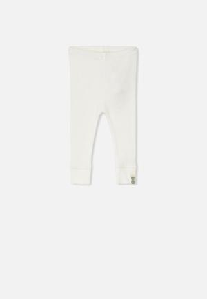 Cotton On Baby Mini Ribbed Leggings Pants & Jeans White