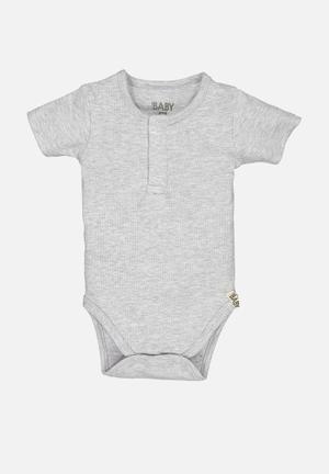 Baby mini henley style bubbysuit