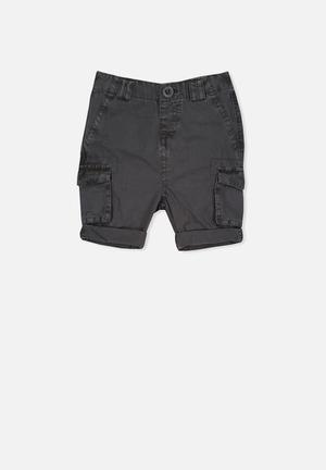 Cotton On Baby Andy Cargo Shorts Dark Charcoal