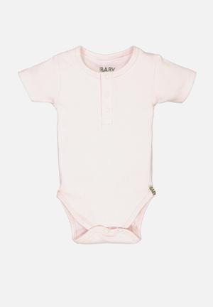 Mini ss henley style bubbysuit