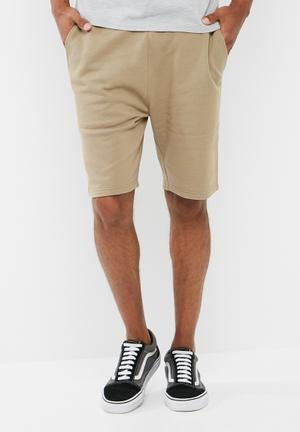 Basicthread Regular Fit Sweat Shorts Beige
