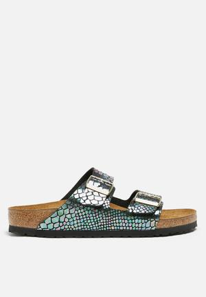 Birkenstock Arizona Snake Sandals & Flip Flops Black