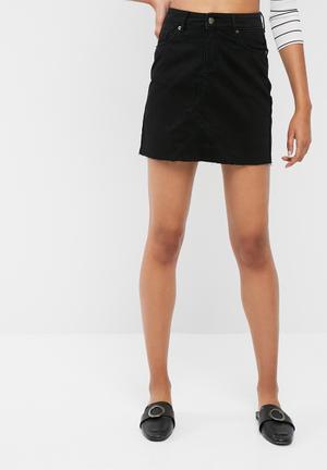 Dailyfriday Denim A Line Mini Skirt Black