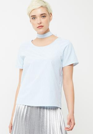 ONLY Chloe Choker Top Blouses Blue