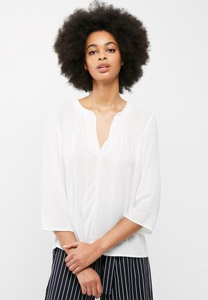 Dailyfriday Mandarin Collar Blouse White