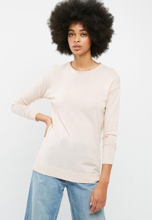 Dailyfriday Crew Neck Slouchy Knit Knitwear Pink