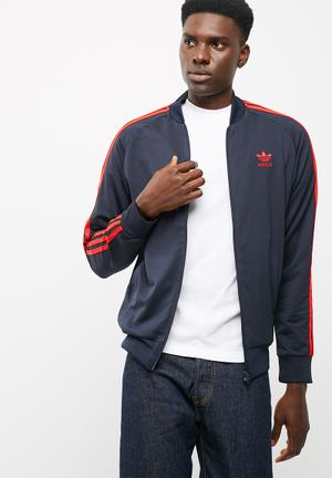 Adidas Originals Tricot Track Top Hoodies, Sweats & Jackets Navy & Red
