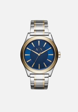 Armani Exchange Nico Watches Gold & Silver