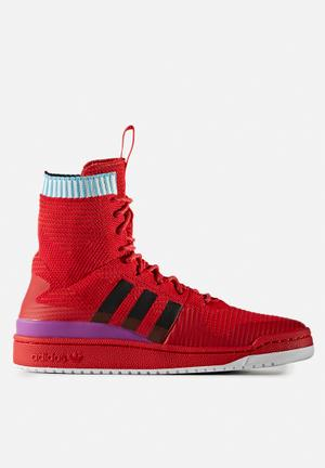 Adidas Originals Forum Primeknit Sneakers Scarlet / Purple