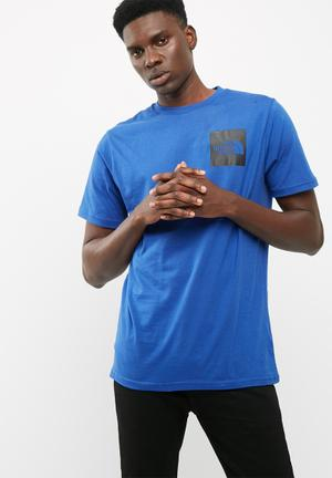 The North Face Fine Bright Tee T-Shirts Blue & Black