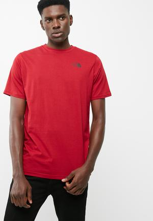The North Face Red Box Tee T-Shirts Red & Black