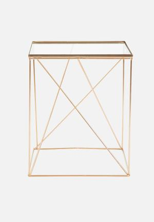 Hertex Fabrics Ares Side Table Copper Steel And Glass