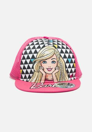 Character Fashion Barbie Trucker Cap Accessories Pink