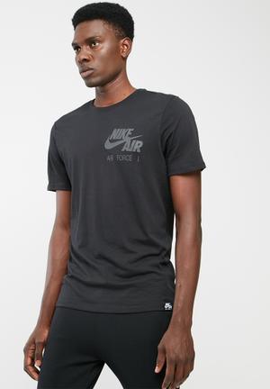 Nike Air Force 1 Tee T-Shirts Black & Grey
