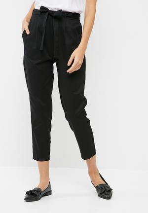 Dailyfriday Self Tie Cigarette Pants Trousers Black