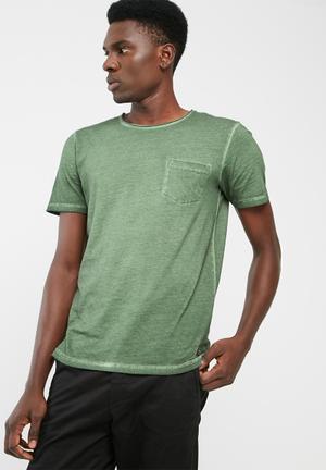 PRODUKT Raw Wash Tee T-Shirts & Vests Green