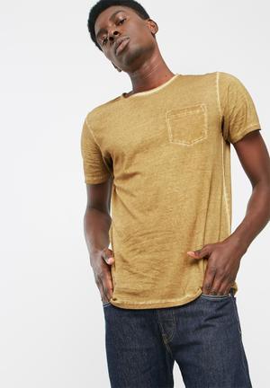 PRODUKT Raw Wash Tee T-Shirts & Vests Brown