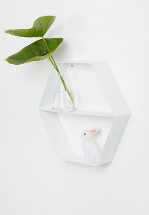 Metal hexagon shelf