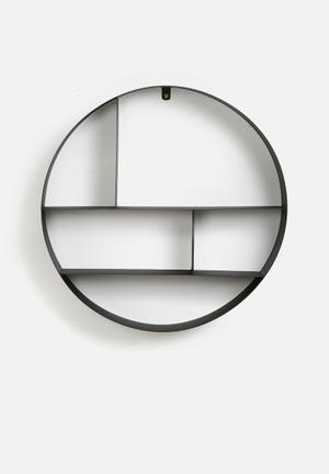 Metal circle shelf