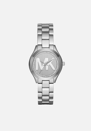 Michael Kors Mini Slim Runway Watches Silver