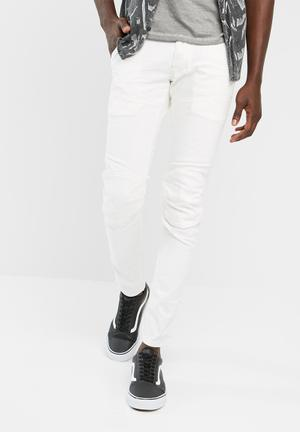 G-Star RAW 5620 Deconstructed 3D Super Slim Jeans White