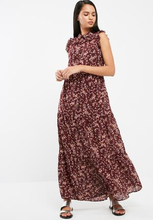 ONLY Bodil Maxi Dress Casual Burgundy