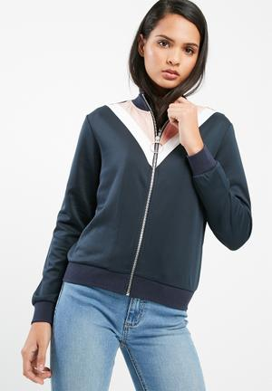 ONLY Tracy Bomber Jacket Navy, Cameo Pink & White