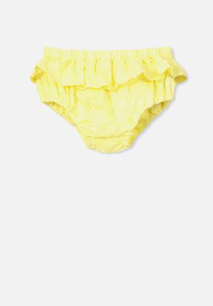 Cotton On Baby Sadie Bloomer Shorts Yellow