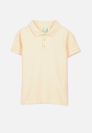 Cotton On Kids Kenny Polo Tops Peach