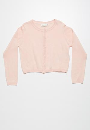 Name It Valuccan Short Knit Cardigan Jackets & Knitwear Soft Pink