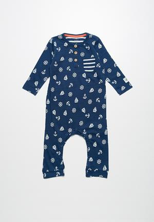 Name It Fox Babygrow Navy