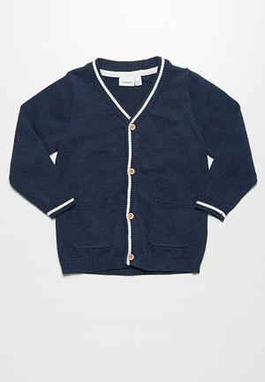 Name It Fallon Knit Cardigan Jackets & Knitwear Navy