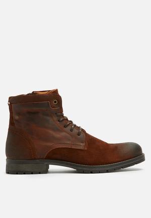 Jack & Jones Hanibal Mix Boots Brown