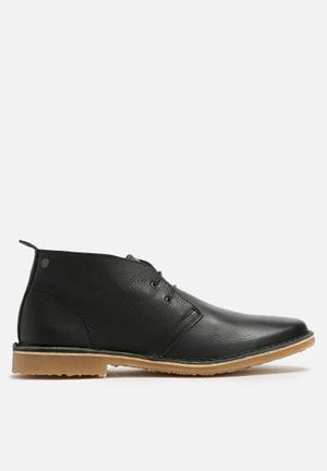 Jack & Jones Gobi Tumbled Leather Boots Black