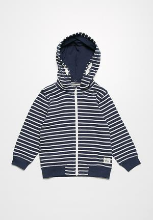 Name It Freddy Hoodie Jackets & Knitwear Navy & White