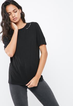 Pieces Ritta Tee T-Shirts, Vests & Camis Black