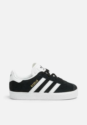 Adidas Originals Kids Gazelle Shoes Black/white/gold