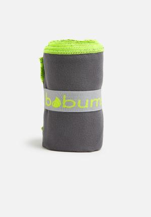 Bobums Single Gym Towel Fitness Trackers Dark Grey & Yellow