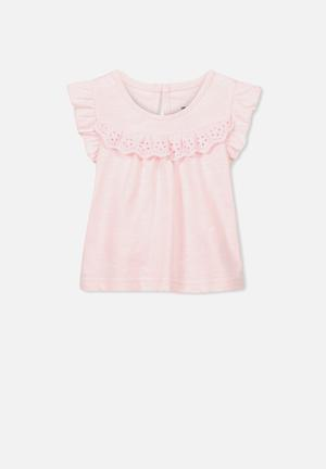 Cotton On Baby Kourtney Flutter Top Pink