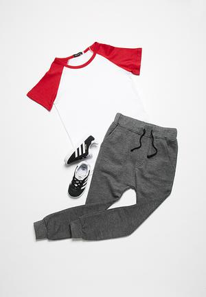 Basicthread Skinny Joggers Pants & Jeans Grey