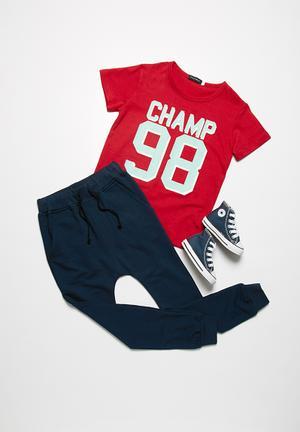 Basicthread Skinny Joggers Pants & Jeans Navy