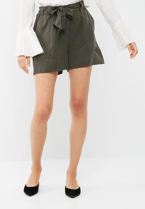 Dailyfriday Soft Short With Self Tie Olive